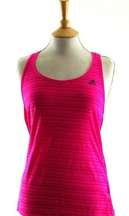 Womens Pink Adidas Vest Top