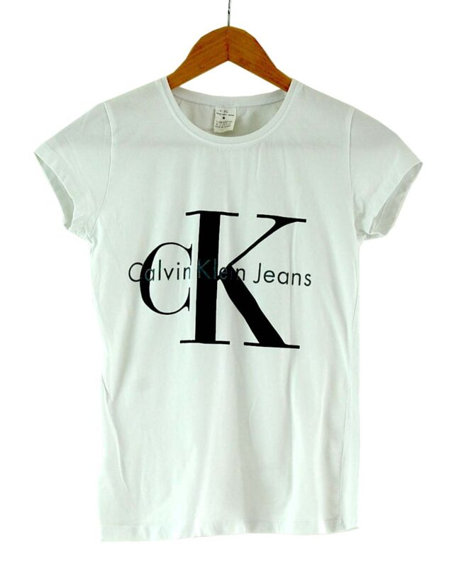 White Calvin Klein tee womens