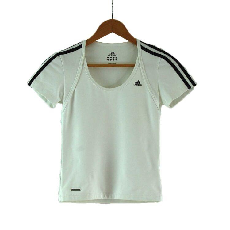 White Adidas Tshirt Womens