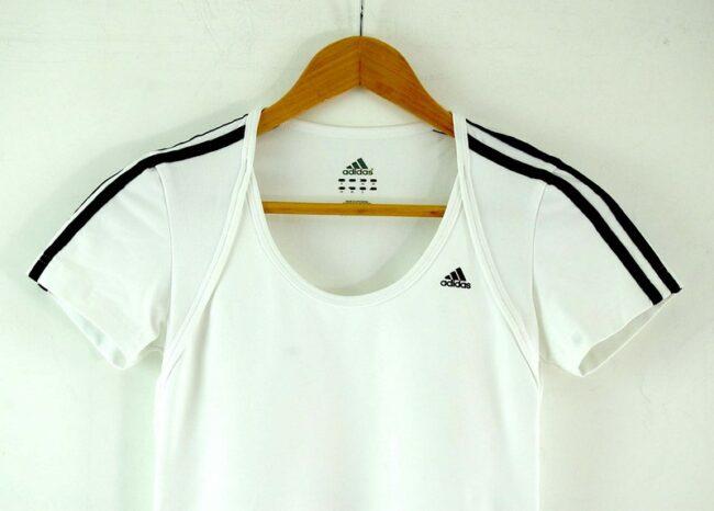 Close up of White Adidas Tshirt Womens