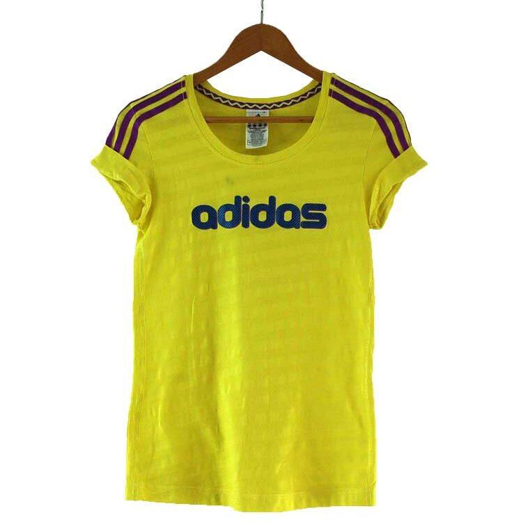 Yellow Adidas T Shirt Womens