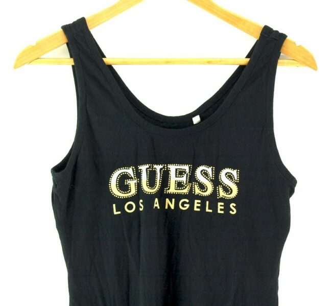 Close up of Guess Los Angeles Vest
