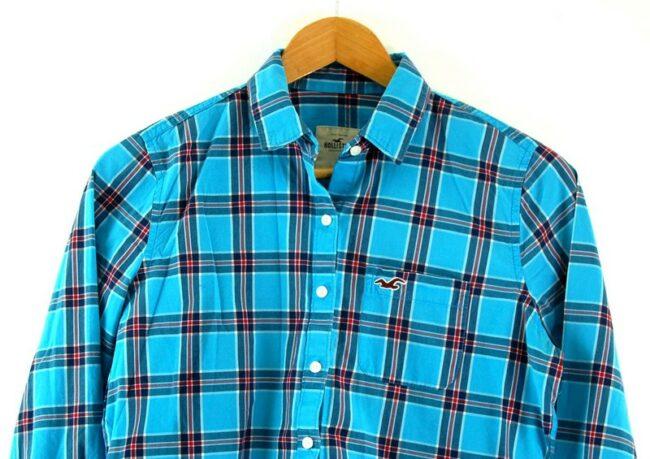 Close of Womens Hollister Checkered Shirt