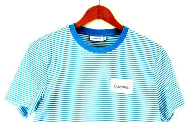 Striped Calvin Klein Tshirt Womens