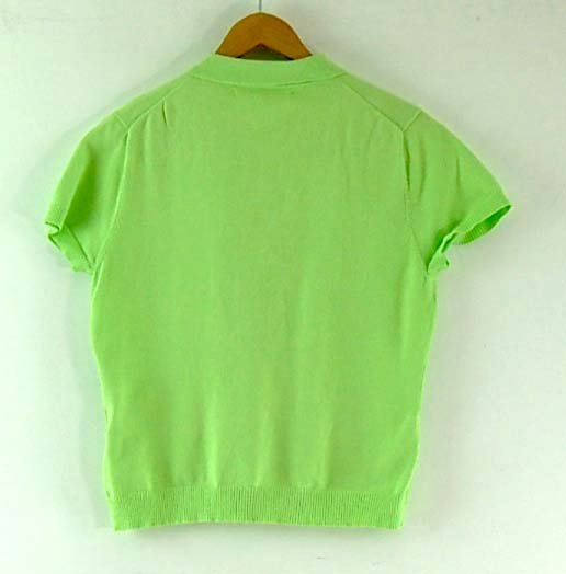 Back of Lime Green Tommy Hilfiger Polo Womens