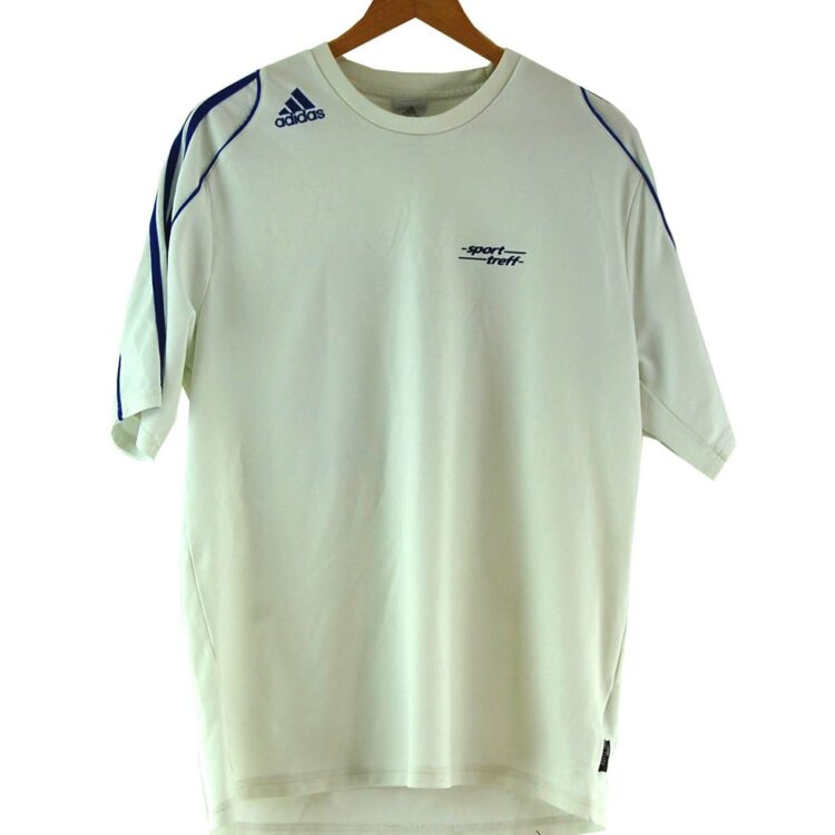 White Adidas Football Tee