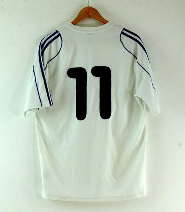 Back of White Adidas Football Tee