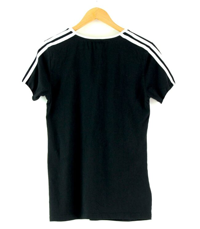 Back of Adidas Stripes Tee Black
