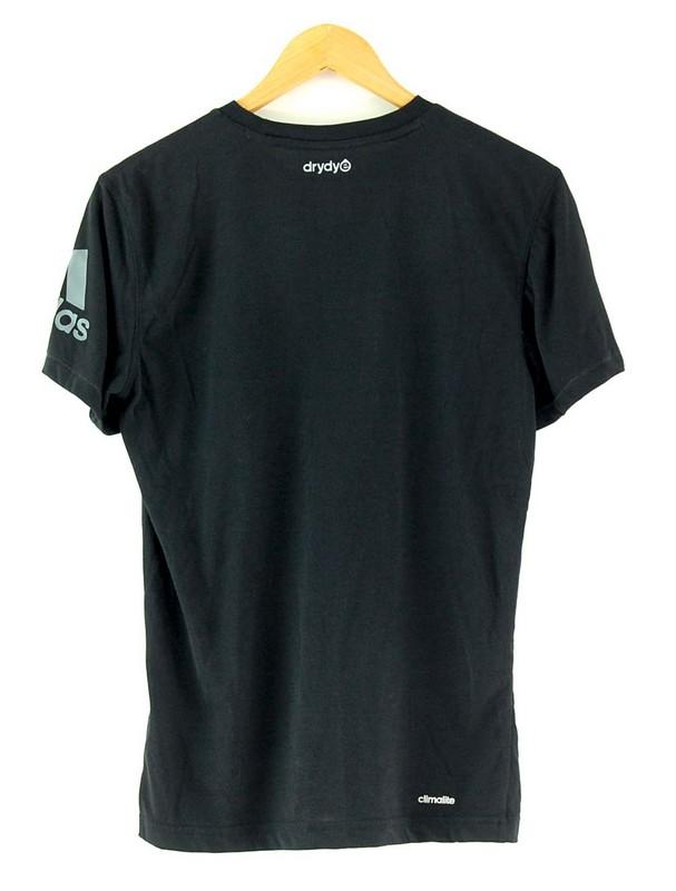 Back of Adidas Black Tee