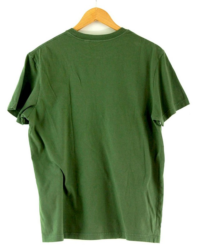Back of Guess Green T Shirt