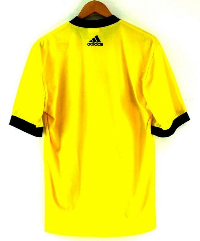 Back of Yellow T Shirt Adidas