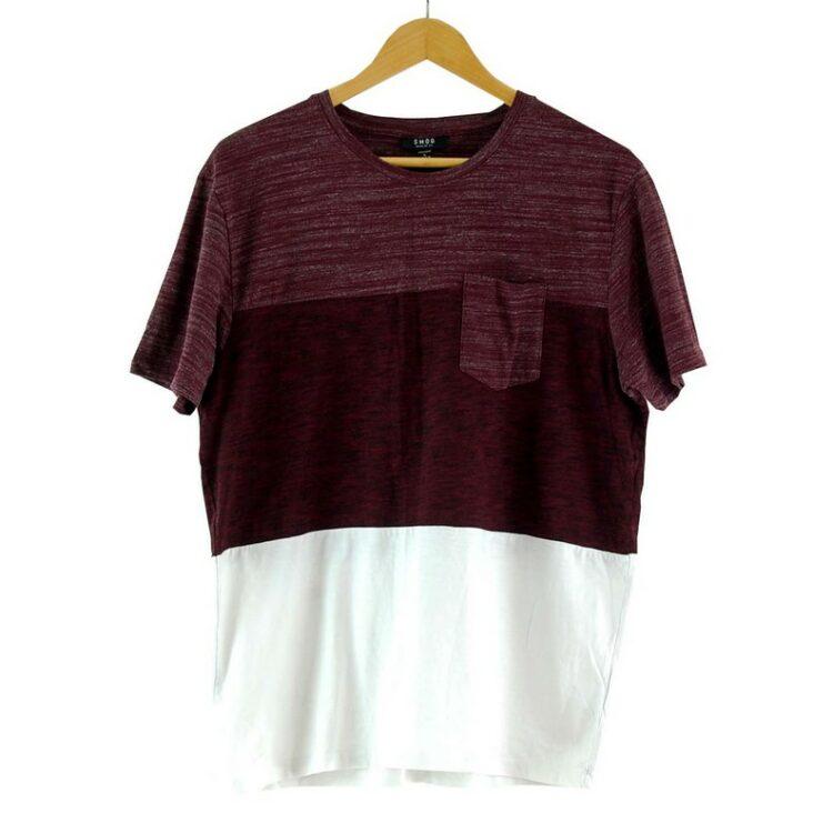 Purple And White Smog T Shirt