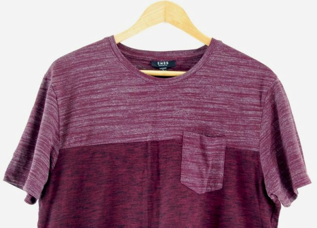 Close up of Purple And White Smog T Shirt