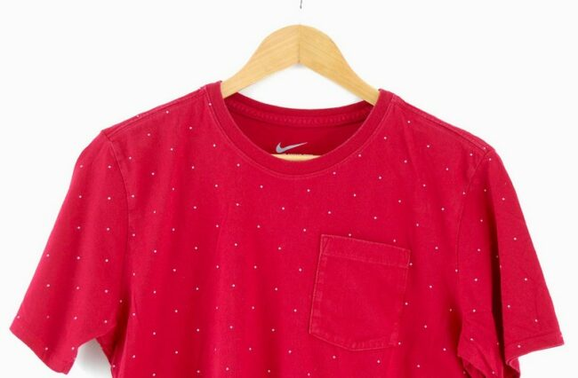Close up of Red Nike T Shirt