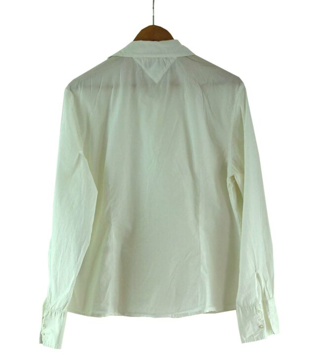 Back of White Tommy Hilfiger Ladies Blouse