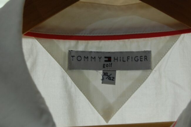 Close up of White Tommy Hilfiger Ladies Blouse