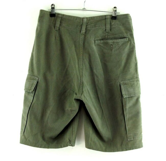 Back of Olive Drab Army Combat Shorts From 1984