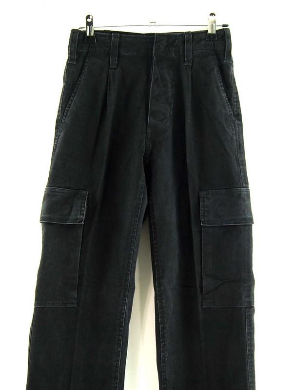Front of Womens Black German Army Moleskin Pants