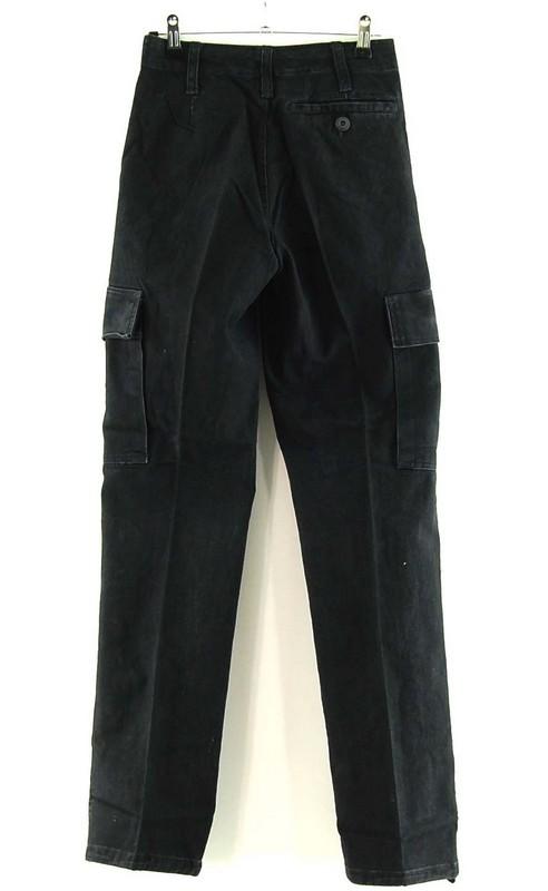 Back of Womens Black German Army Moleskin Pants