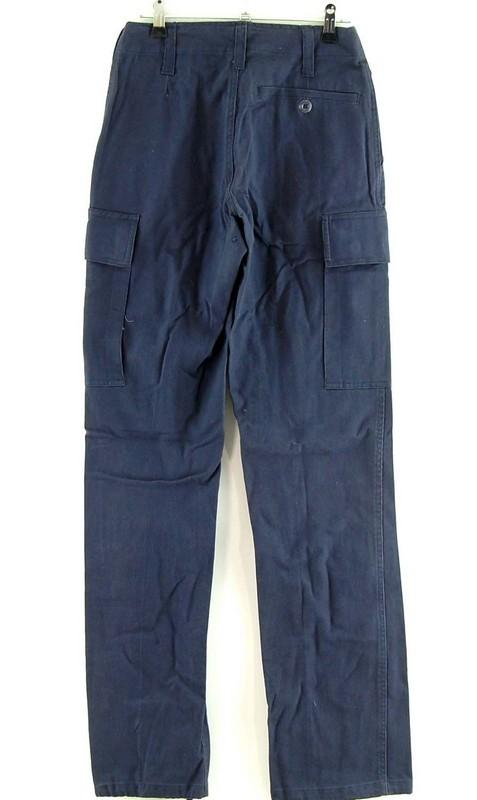 Back of Womens Blue Combat Pants