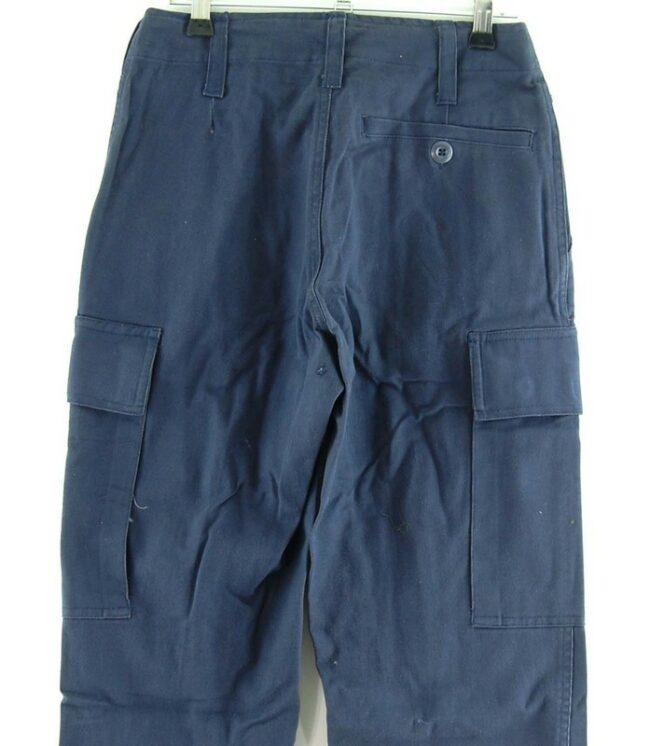 Close up of Womens Blue Combat Pants