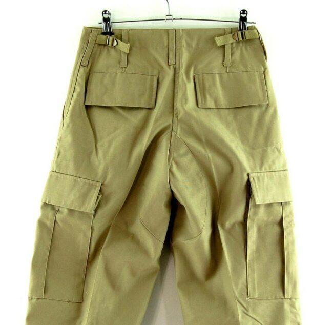 Close of Khaki Army Surplus Pants