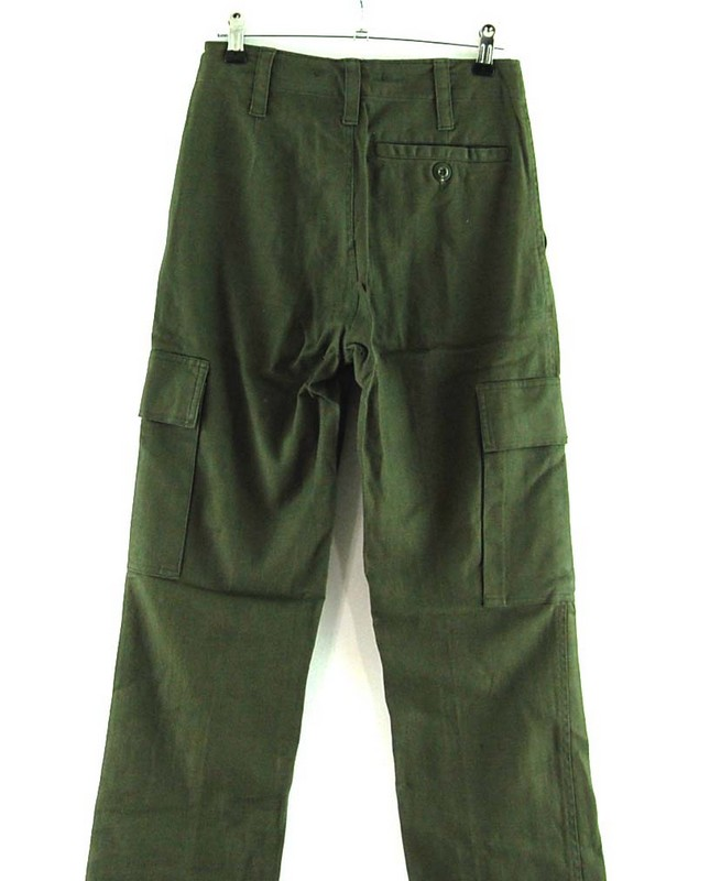 Back of Front of Army Surplus Moleskin Trousers