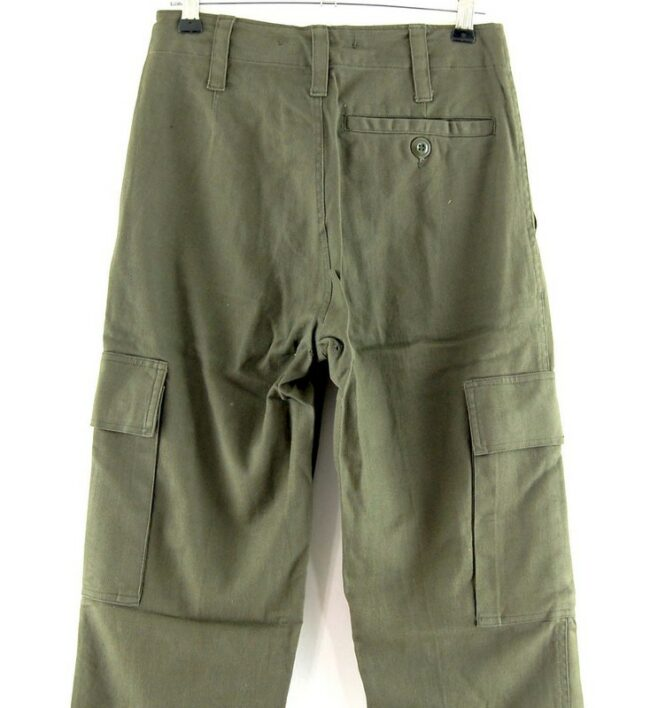 Close up of Olive Green Army Pants