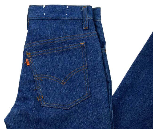 Close up of Deadstock Levis 746-0618 Denim Bootcut Jeans
