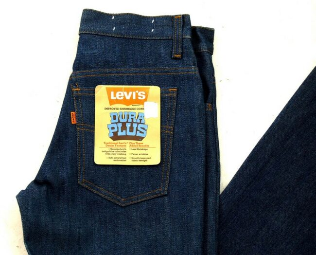 Close up of 70s Levis 784-0919 Dura Plus Bell Bottom Jeans