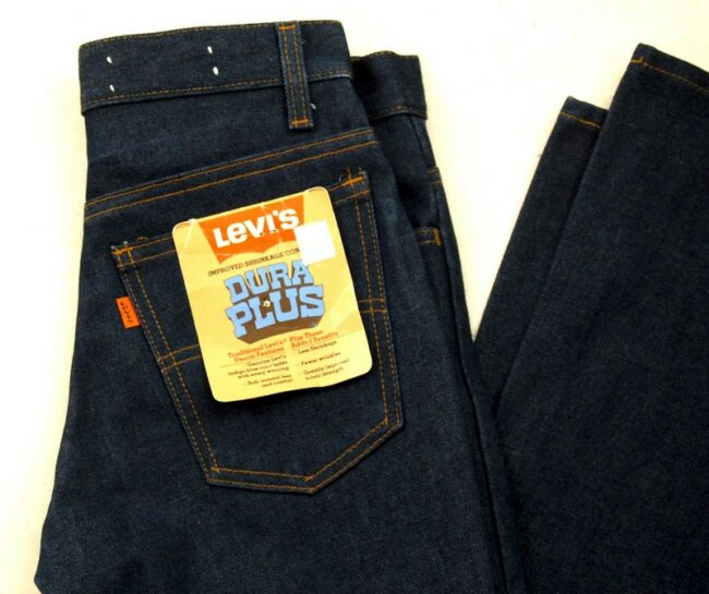 Close up of 70s Deadstock Levis 784-0917 Jeans Dura Plus Bell Bottom