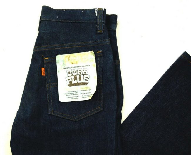Close up of 70s Deadstock Dura Plus Levis 784-0917 Flared Jeans