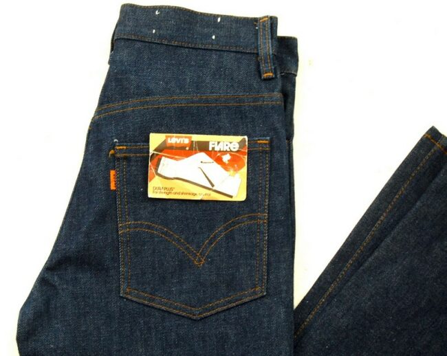 Close up of 70s Deadstock Dura Plus Levis 746-0917 Bootcut Jeans
