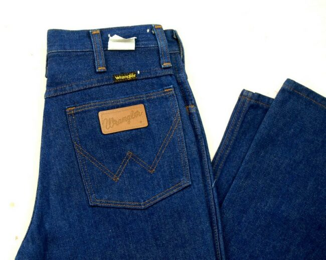 Close up of 70s Wrangler Bootcut Jeans 945 Long
