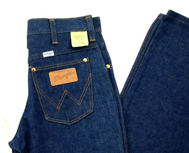 Close up of 70s Wrangler Bootcut Jeans Student Fit Deadstock