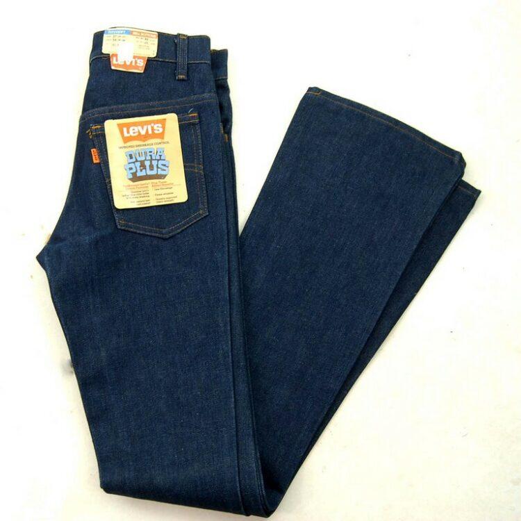 70s Vintage Deadstock Dura Plus Bell Bottom Levis Student Fit Jeans