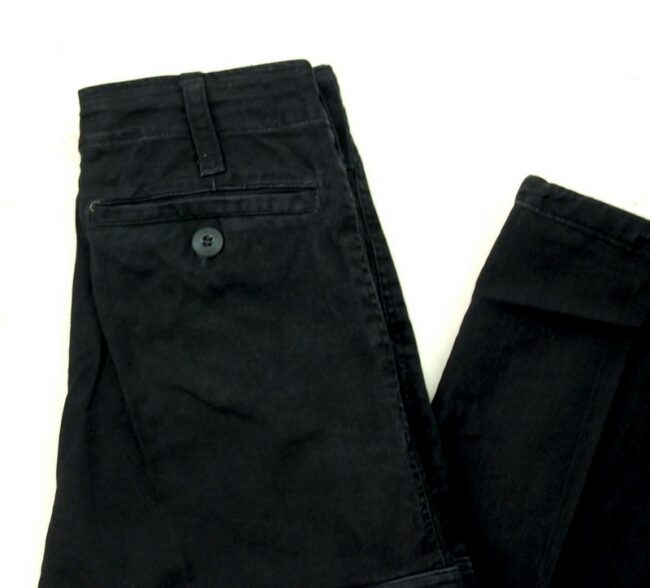 Close up of Black Army Pants Womens