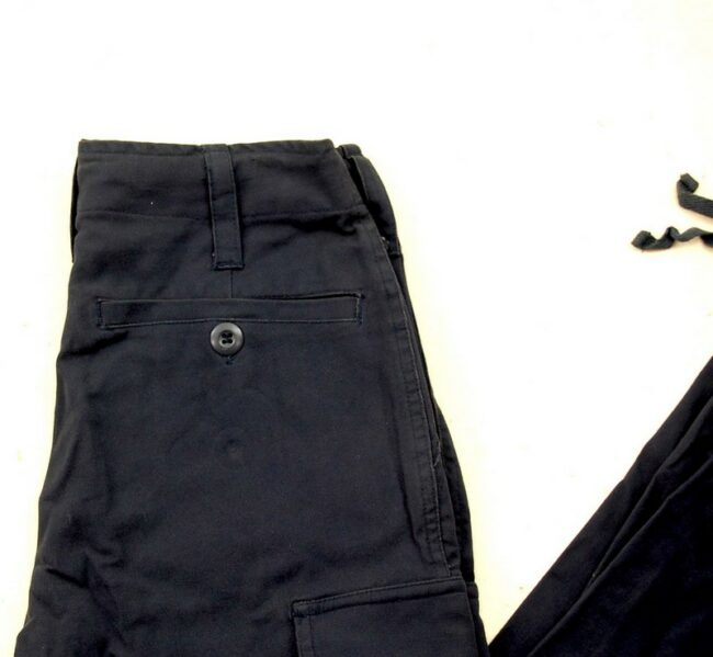 Close up of Black Army Trousers Womens