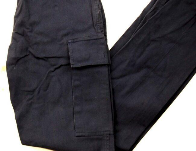 Close up of Black Combat Pants Womens