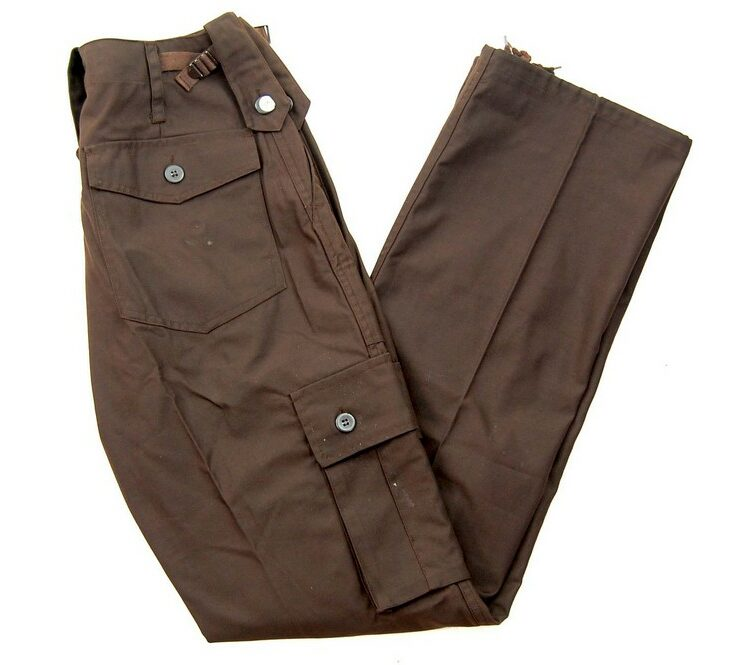 Brown Vintage Army Trousers