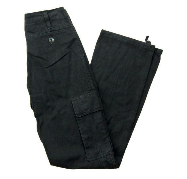 Black Vintage Army Trousers