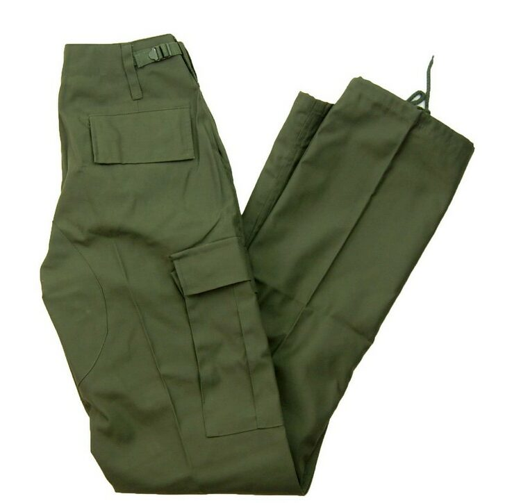 Olive Six Pocket Cargo Trousers