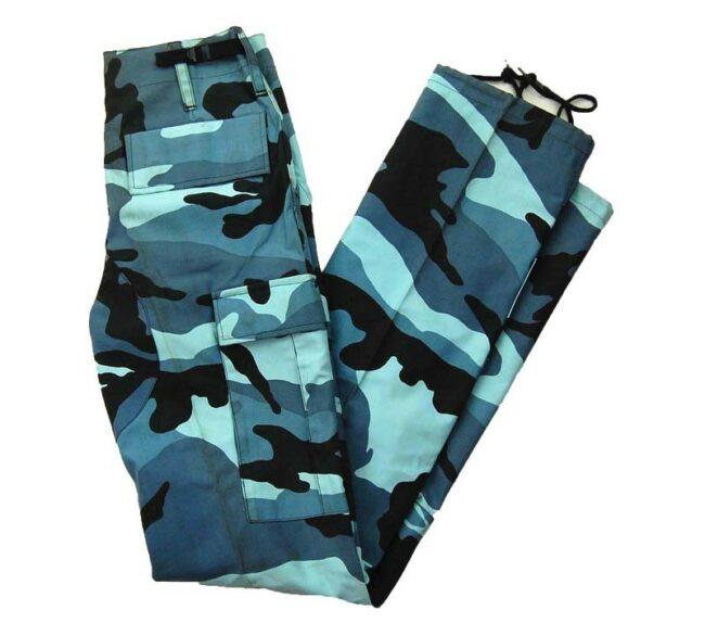 Ladies Blue Army Woodland Camo Pants