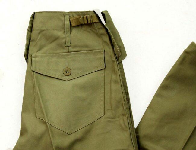 Close up of Khaki Army Pants