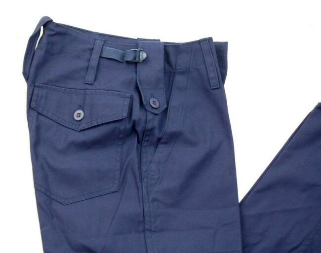 Close up of Blue Army Pants