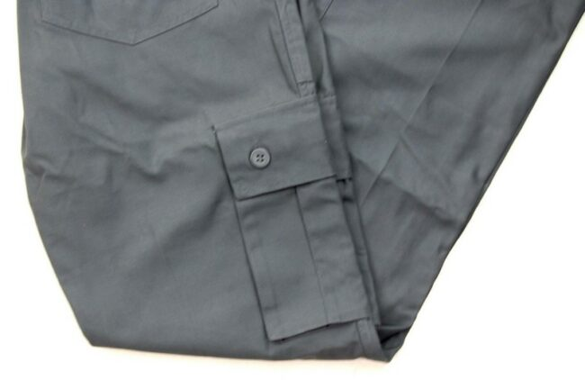 Close up of Grey Vintage Army Trousers