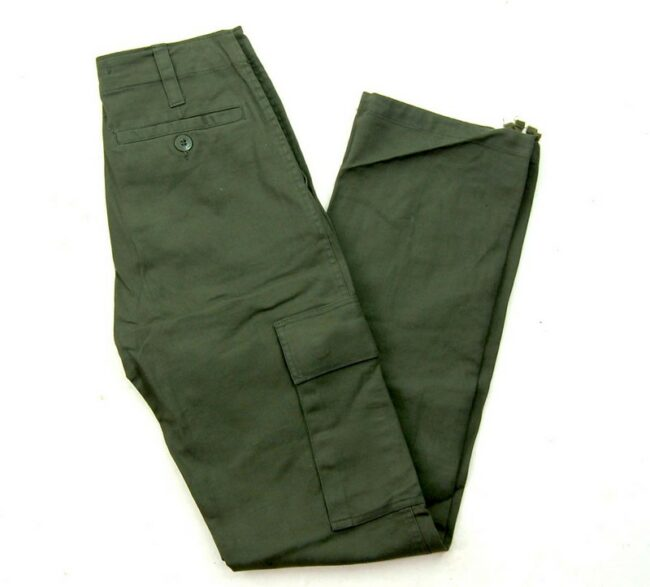 Back of Olive Green Army Pants