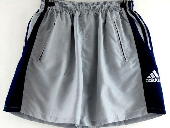 Close up of Grey Adidas Football Shorts