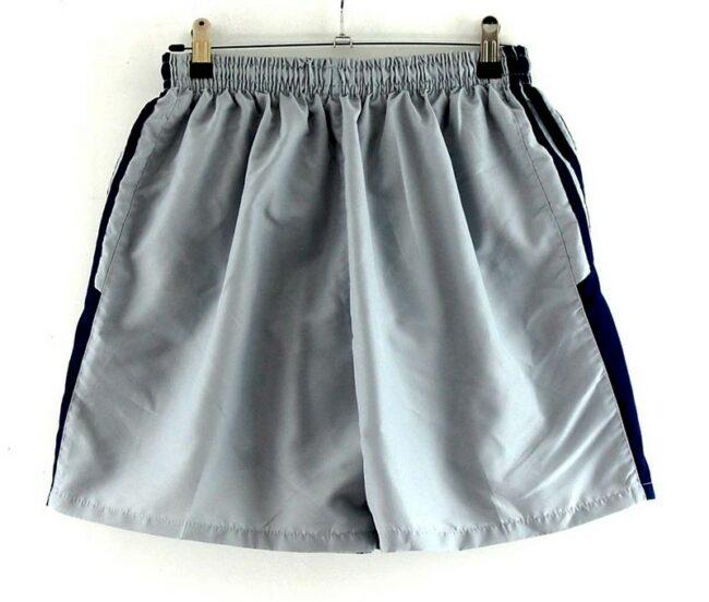 Back of Grey Adidas Football Shorts