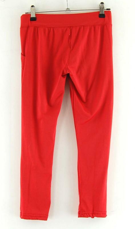 Back of Red Adidas stripe Leggings